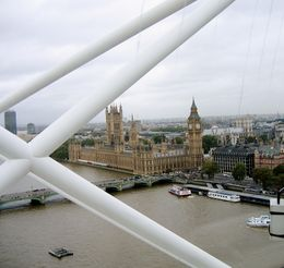 Inside London Eye car, about halfway to the top of the wheel. , Sarah J K - November 2012