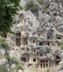 Lycian Tombs, Agnes R - June 2010