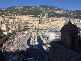 Monaco ... Marina view from lower down the mountain side , Bev Chislett - January 2016