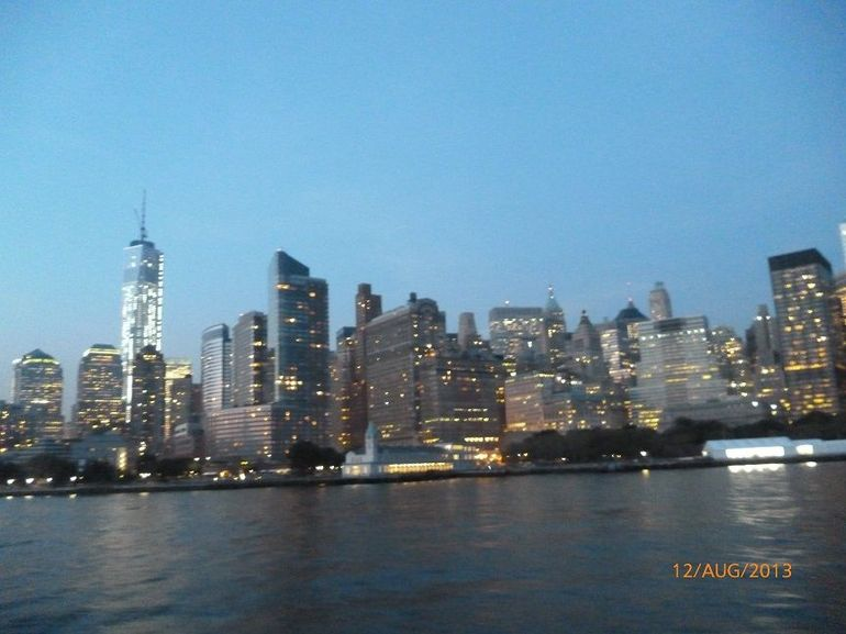 NYC harbour at dusk - New York City