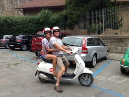 Photo of Florence Florence Vespa Tour: Tuscan Hills and Italian Cuisine Post lunch smiles