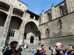 This courtyard of the Royal Palace was next to the HQ of the Inquisition. You can still feel the terror of the accused even after 500 years! , Jane M K - April 2015