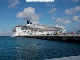 Photo of Cozumel Combo Tour: Cozumel Island and Tequila Tour, Playa Mia Beach Park and Discover Mexico Park The Norwegian Jewel, docked at the pier, at Cozumel.