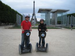 My wife and I at the start of our tour on the Champ de Mars. - July 2008