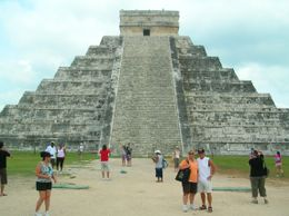 It's unbelievable to see what the lives of the Maya were like thousands of years ago as we had our picture taken in front of the pyramid. Jeanine is in an orange top and Bill is in white. So very..., Jeanine C - May 2010
