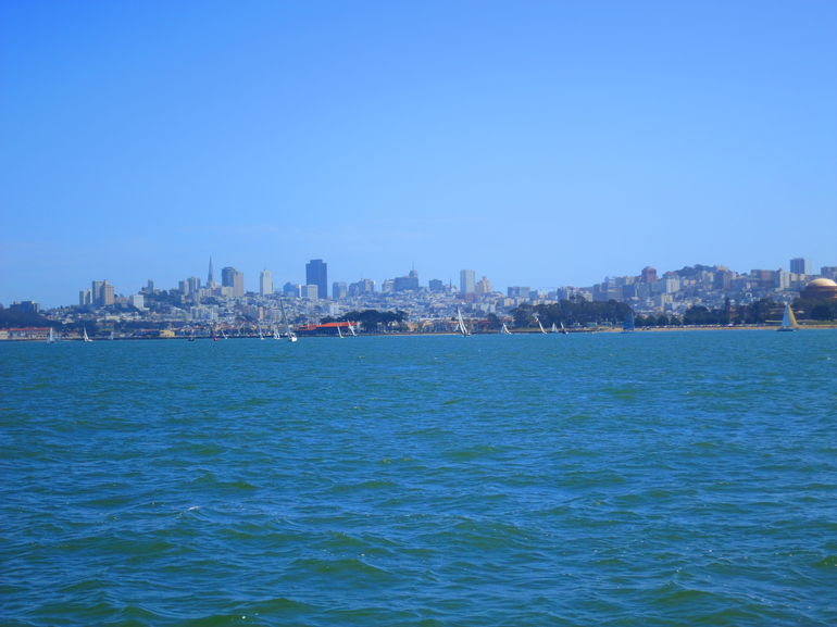 City skyline in the distance - San Francisco