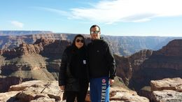 Photo of Las Vegas Skip the Line: Grand Canyon Skywalk Express Helicopter Tour Devant l and quot;eagle and quot;