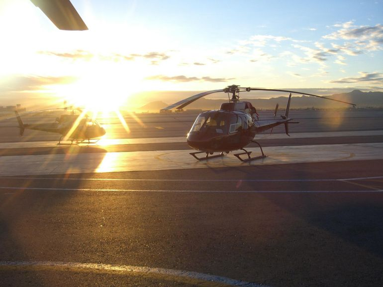 Flying out at sunrise - Las Vegas