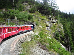 Photo of Milan Swiss Alps Bernina Express Rail Tour from Milan Going into the Tunnel