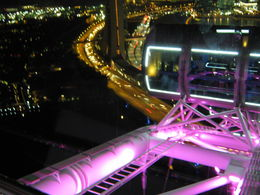Singapore Flyer at night while enjoying an excellent meal. , greg.j.mchugh - June 2012