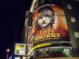 Queen's Theatre showing Les Miserables in London , Robert L - July 2012