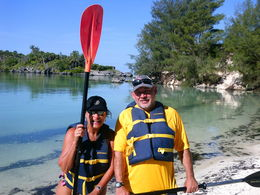 Scott and Sherry getting ready for our great Kayak adventure in Bermuda last month. , Sherry S - September 2014