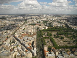 Just a small slice of the 360 degree view of Paris from the Montparnasse Tower. , Susan U - August 2012