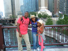 standing on one of the many beautiful bridges in chicago. , Roddrell H - July 2012