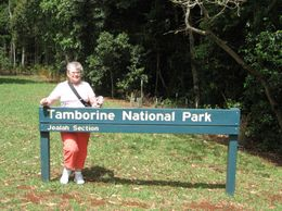 Sharon at entrance to walk at Tamborine National Park. - November 2009