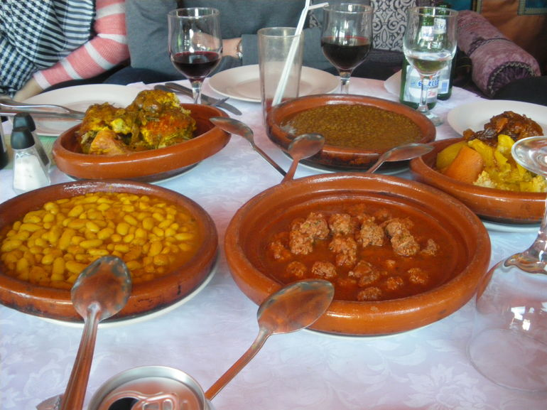 the lunchtime meal - Marrakech