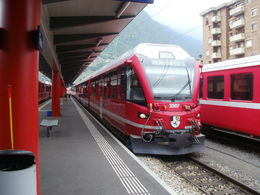 The Bernina Express ready to leave. , Julian A - June 2013