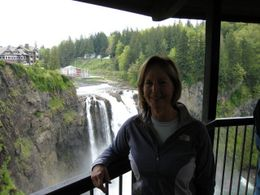Photo of Seattle Snoqualmie Falls and Seattle Winery Tour Up close near Snoqualmie Falls on viewdeck