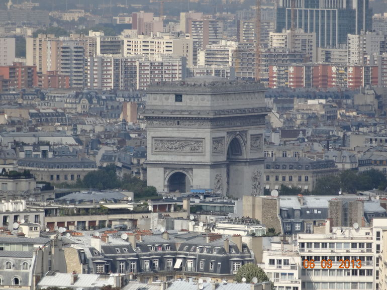 View from Eiffel Tower, looking at Arc De Triomphe - Paris