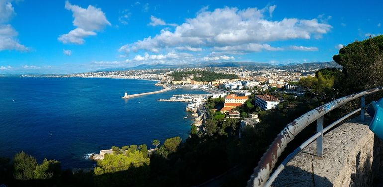 View of eastern Nice, on the way to Eze