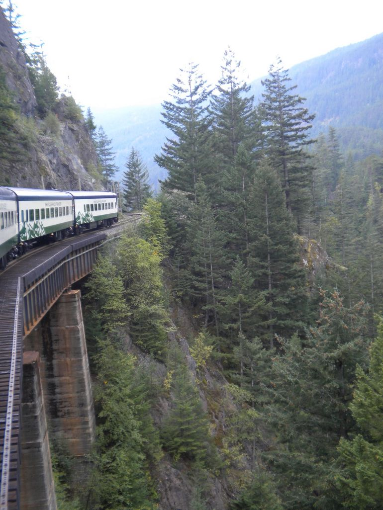View of The Whistler Mountaineer - Vancouver