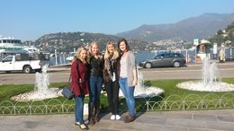 Waiting at Como for our trip to Bellagio , Catherine C - November 2015