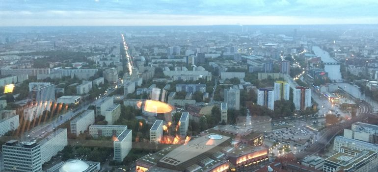 Stunning views of Berlin from the TV Tower