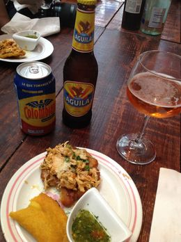 One of the food stops on the tour features Colombian food. , Terri S - November 2013