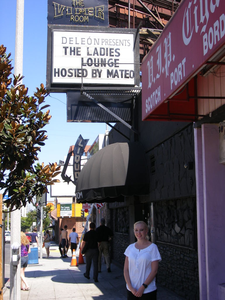 Outside the Viper Room where River Phoenix passed away - Los Angeles