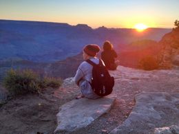 Sitting on the ledge for sunrise, World Traveler - October 2012