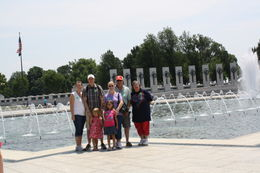 My family at the WW2 Memorial , Alicia C - July 2011