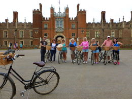 Photo of London Hampton Court Palace Bike Tour from London Our arrival at the palace
