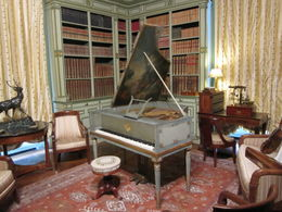 Photo of Paris Loire Valley Castles Day Trip: Chambord, Cheverny and Chenonceau Piano Room at Cheverny Chateau