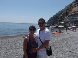Photo of Rome Pompeii and Amalfi Coast Small Group Day Trip from Rome Positano - A little visit to the beach.