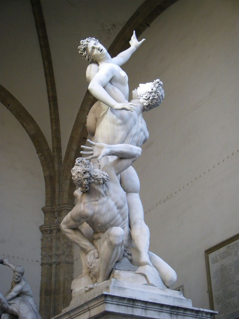 Rape of the Sabine Women by Giambologna - Florence