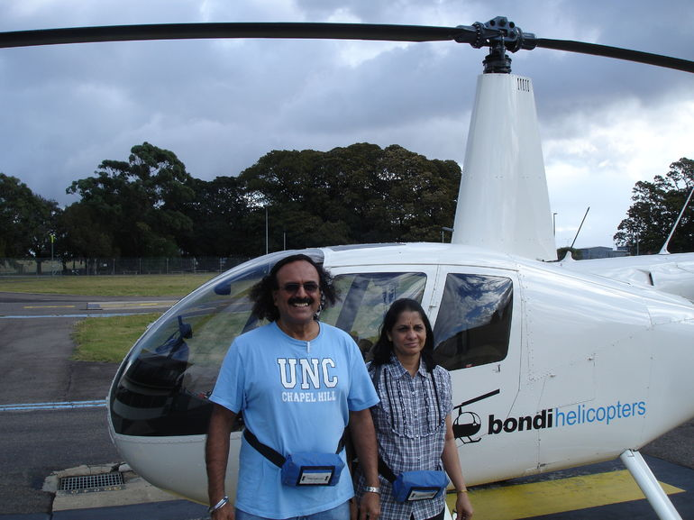 Rajeev and Snehal: On ground after touching of Sydney skies!