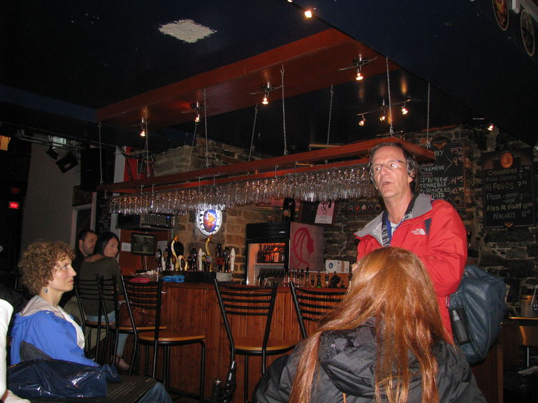 Tour Guide Robert Explains the up and coming Quebec micro brewing industry