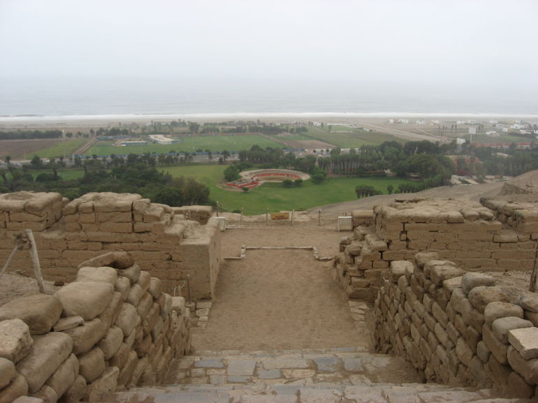 View from on top of the Temple of the Sun - Lima