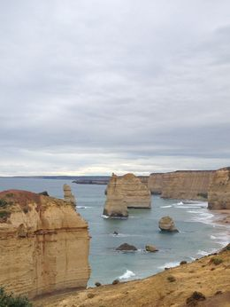 Visiting the 12 Apostles, which was just one stop of many on the Great Ocean Road tour , Kaylyn R - May 2016