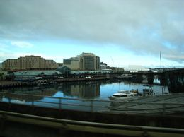 Starting the tour and driving by Darling Harbour - March 2010