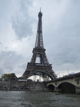 View of the Eiffel Tower on our approach from the river boat. , Garry M - June 2013