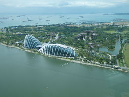 One of the great views of the Gardens By The Bay taken while we on board the Singapore Flyer. May 2014. , Paul R - May 2014