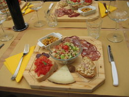 A Tuscan lunch with five course wine tasting. , Marya G - June 2012