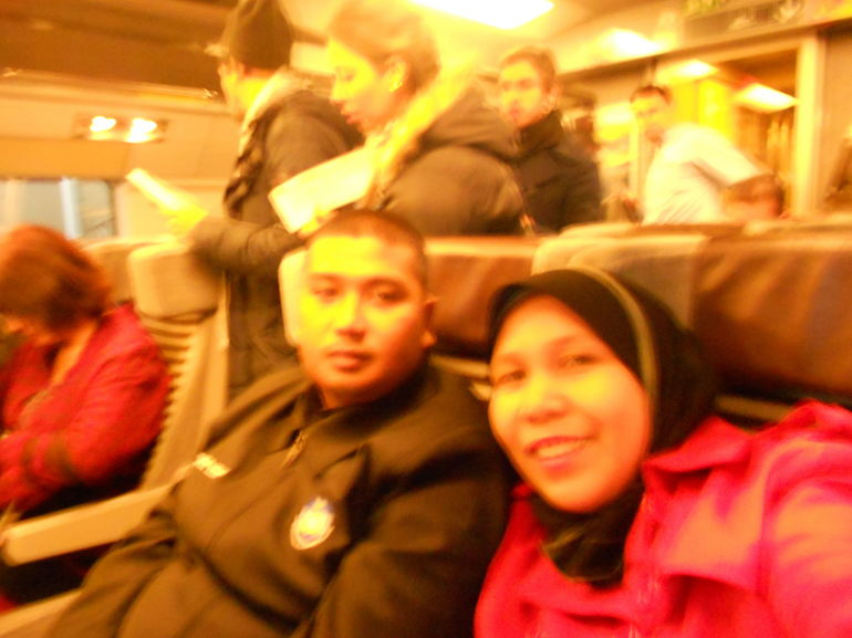 In the Eurostar - Paris