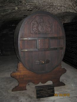 A barrel used in the caves at Moet & Chandon. The wine was for the many trips Napolean made to the family mansion., Jospeh V - April 2010