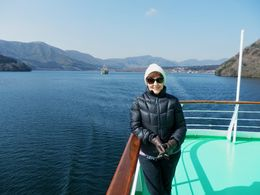 On the cruise on Lake Ashi , Yvonne H - April 2014