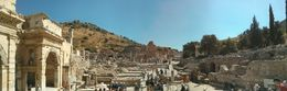 Photo of Istanbul 6-Day Small-Group Turkey Tour from Istanbul: Pamukkale, Cappadocia, Ephesus and Hierapolis Panoramic shot of the ruins at Ephesus