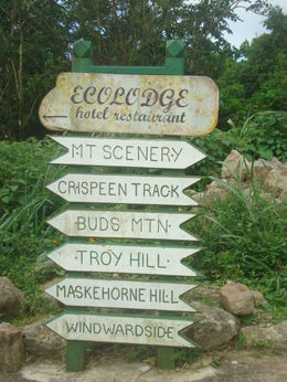 The path to Ecolodge a quaint restaurant nestled in the mountain , Latifah M - October 2011