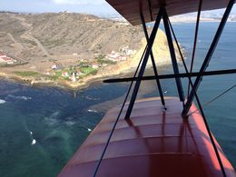 Great view of Pt. Loma, across the wing of the biplane , SDpisces-girl - November 2013