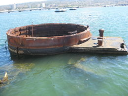 Photo of Oahu Pacific Aviation Museum, USS Arizona, Punchbowl and Honolulu City Tour The Remains of the U.S.S. Arizona.